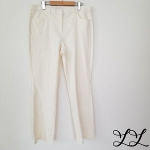 Isaac Mizrahi Live Pants Cream Off White Bootcut